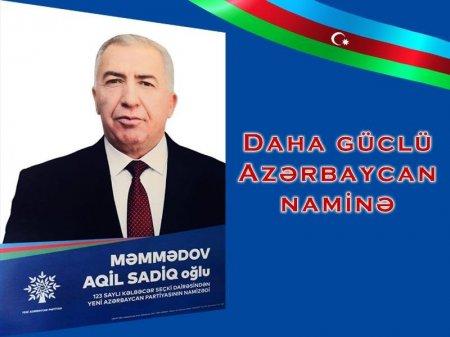 Daha güclü Azərbaycan naminə - ÖZ LAYİQLİ NAMİZƏDİNİZƏ SƏS VERİN!